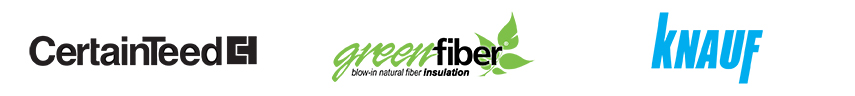 hiller lumber insulation brands including certainteed, green fiber, and knauf