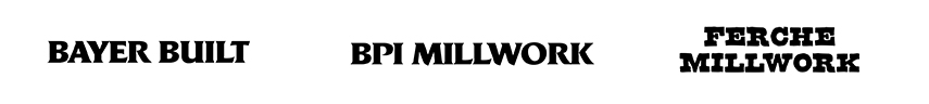 hiller lumber millwork brands including bayer built, bpi millwork, and ferche millwork
