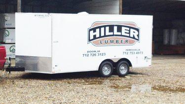 hiller lumber enclosed trailer